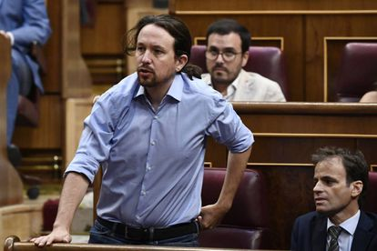 Podemos leader Pablo Iglesias during the first investiture debate on Tuesday of this week.