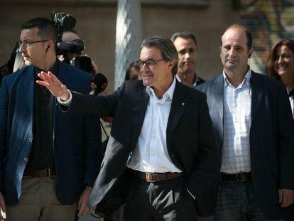 Current regional premier Artur Mas, pictured on Monday.
