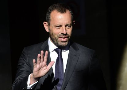 Former Barcelona club president Sandro Rosell in a file photo.