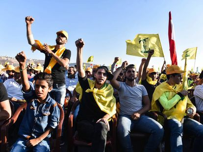 Hezbollah celebrates the 10th anniversary of the war it waged against Israel in July 2006.
