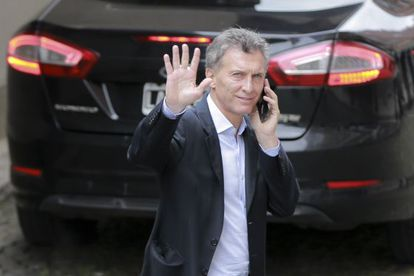 Macri pictured on Monday, the day after his election win.