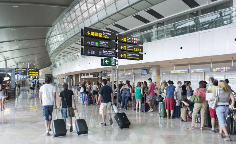 The Valencia airport.