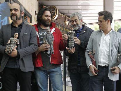 From left: Luis Tosar, director Fernando Cortizo, Carlos Blanco and Jorge Sanz.