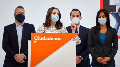 Ciudadanos leader Inés Arrimadas supports the state of alarm but wants it to be shorter than six months.