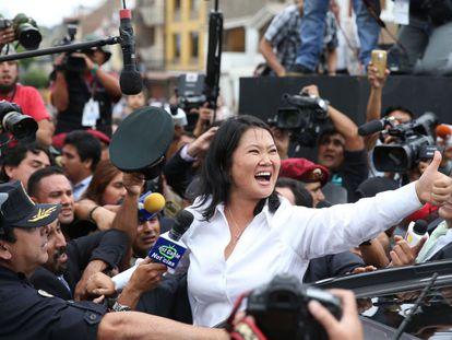 Keiko Fujimori, after voting in Lima on Sunday.