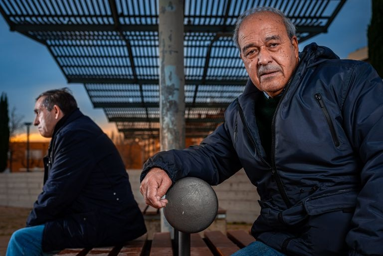 Aurelio Montoiro (r) and Tomás Jiménez (l) will not be seeing their families this Christmas due to the pandemic.