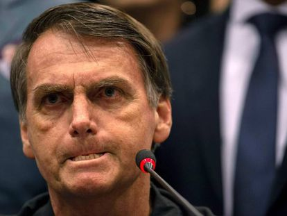Brazil's right-wing presidential candidate Jair Bolsonaro.