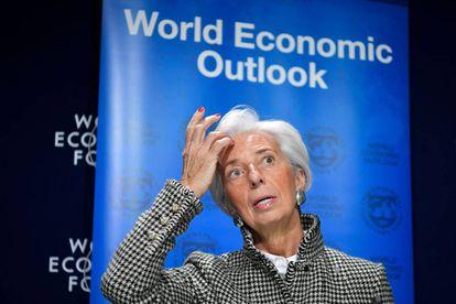 IMF Managing Director Christine Lagarde at Davos.