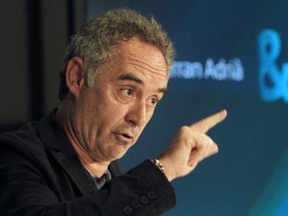 Chef Ferran Adrià.