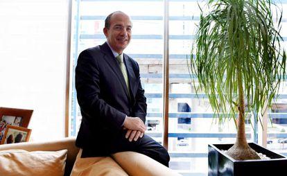 Former Mexican president Felipe Calderón in his office.