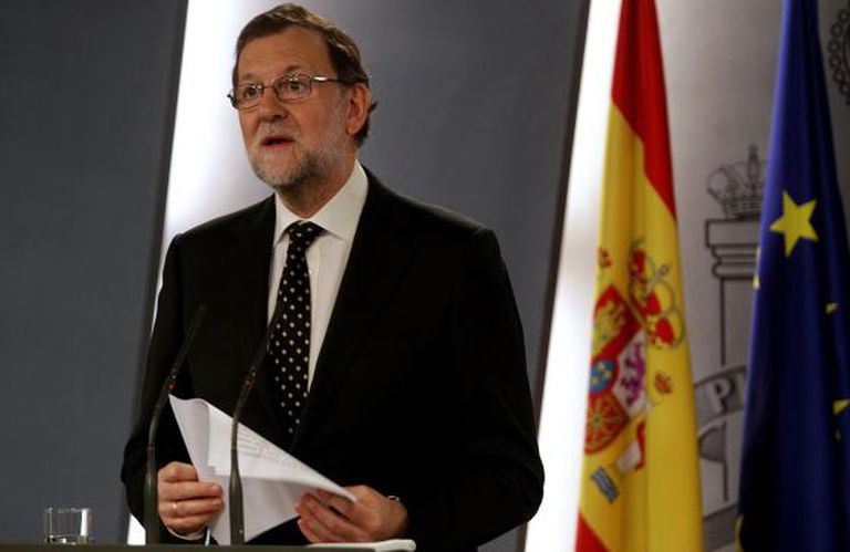 Mariano Rajoy during his Sunday address to the nation.