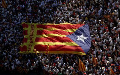 A protest on the Diada, the Catalan National Day.