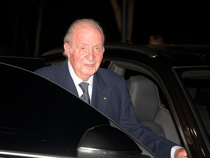 Spain's emeritus king Juan Carlos I last February in Madrid.