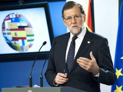 Mariano Rajoy in Brussels.