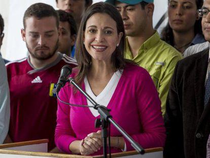 Venezuela opposition leader María Corina Machado.