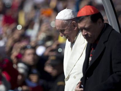 Pope Francis during a visit to Mexico in February.