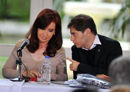 President Cristina Fernández de Kirchner with her economy minister, Axel Kicillof, on Thursday.
