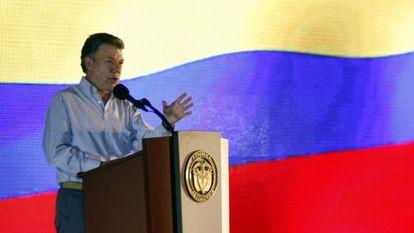 President Juan Manuel Santos on Tuesday.