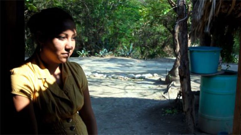 "HIlda, seen in this still image from the film documentary ""Viva México"" by Flavio Florencio."