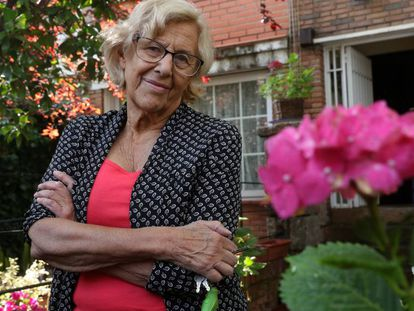 Former mayor of Madrid, Manuela Carmena, in her home.