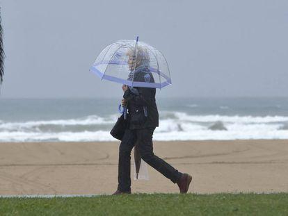 A recent rain storm in Dénia.