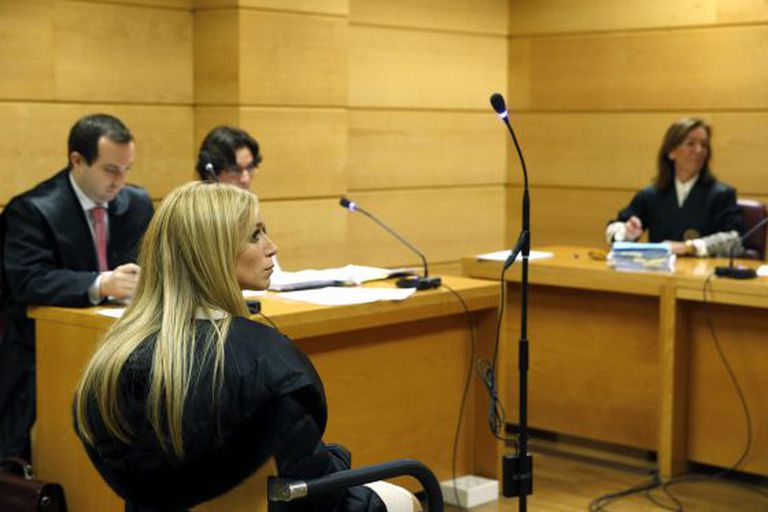Murder-for-hire suspect Áurea Vázquez Ríjos testifes before Spain's High Court in December. Her extradition to Puerto Rico was approved.