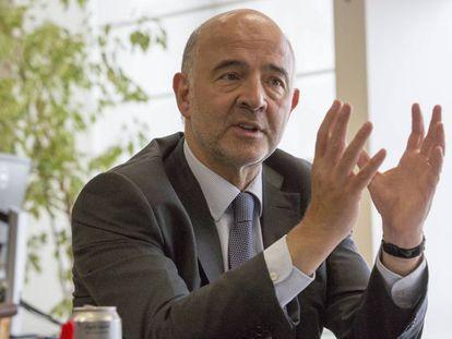 EU finance commissioner Pierre Moscovici.