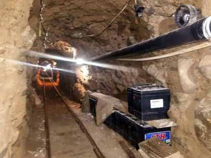 The tunnel found on Wednesday was used to ship drugs across the border to the US.