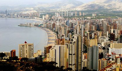 A view of the Benidorm skyline.