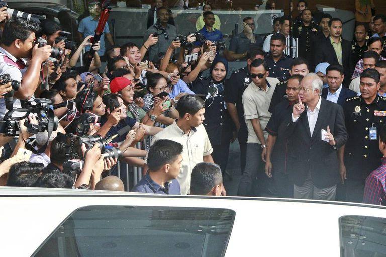 Former Malaysian PM, Najib Razak, after abandoning the Anti-Corruption Commission in Malaysia.