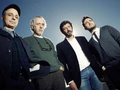 The four filmakers up for Best Director at this Sunday´s Goya awards ceremony: (from l-r) Pablo Berger, Fernando Trueba, Alberto Rodríguez and J.A. Bayona.
