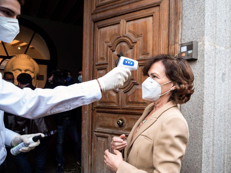 Spain's Deputy Prime Minister Carmen Calvo in Madrid on Monday.
