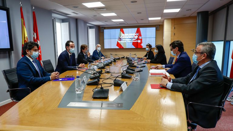 Central and Madrid health authorities met on Tuesday to discuss the coronavirus situation in the region.