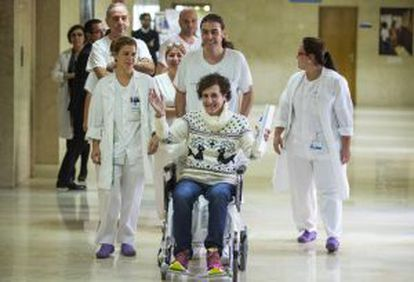 Nursing assistant Teresa Romero was discharged from Carlos III on November 5 after 30 days in hospital.