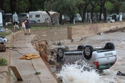 Els Alfacs campsite in Tarragona was severely affected by the rain.