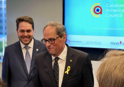Catalan premier Quim Torra in Washington.