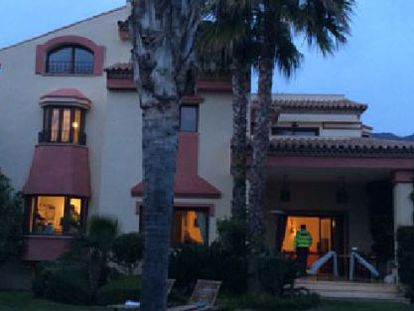 The Marbella home of one of the suspects.