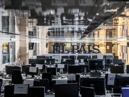 The EL PAÍS newsroom on December 22, 2020.