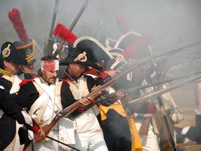 Reding regiment soldiers in a recreation of the Battle of Bailén in 2010.