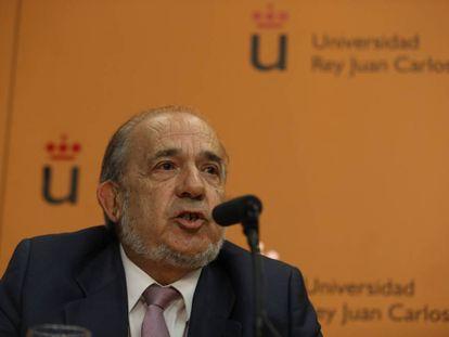 Enrique Alvarez Conde has been suspended by university officials.