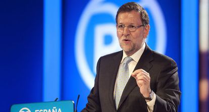 Mariano Rajoy during a rally in Santander on Tuesday.