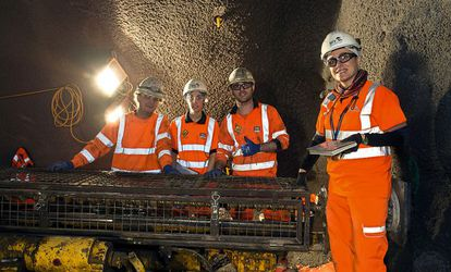 Spaniards José Miguel Soto, Eneritz Otxoa, Rubén Rodríguez and Paula Cabrera all work below the ground at Farringdon Station.