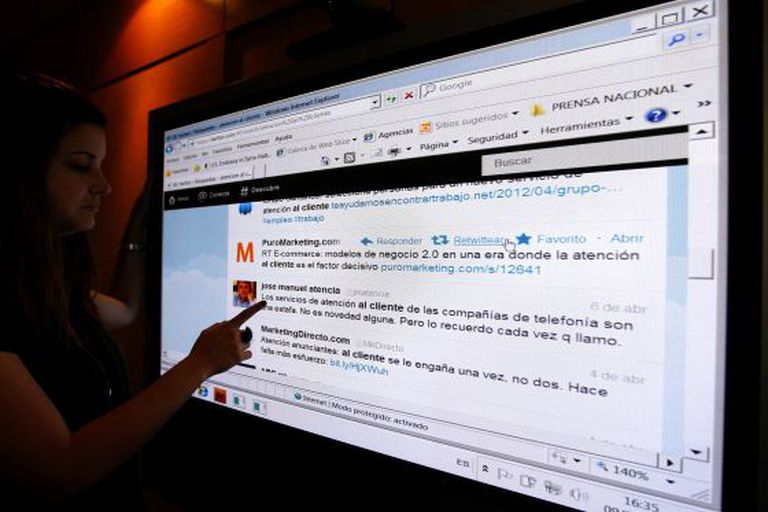 In Spain, 75 percent of companies currently have a Twitter account.