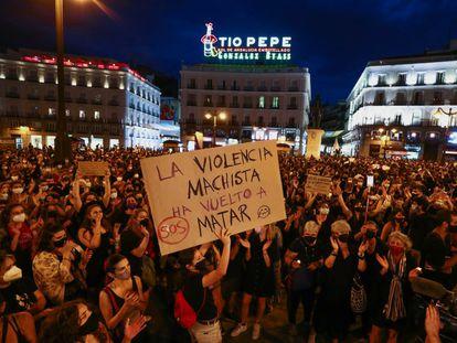 Demonstrators in Madrid on Friday.