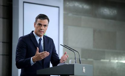 Pedro Sánchez, this tuesday in Moncloa.