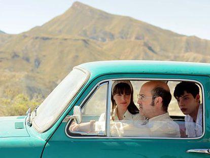 Javier Cámara at the wheel in 'Living is Easy With Eyes Closed.'
