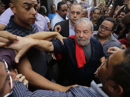 Former Brazilian president Luiz Inácio Lula da Silva on March 4.