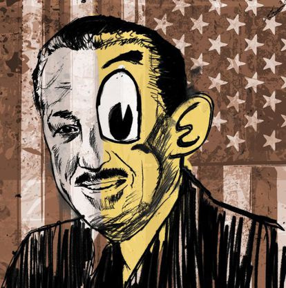 The original illustration for the poster of The Perfect American, which will debut at the Teatro Real in January