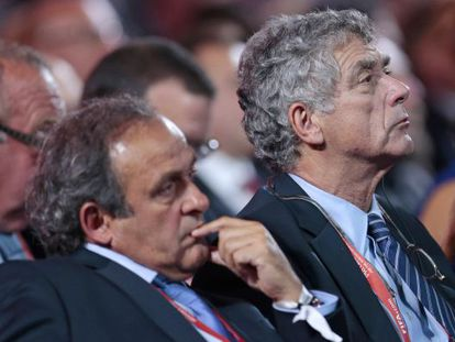 Villar (right) and Platini at a meeting in July.