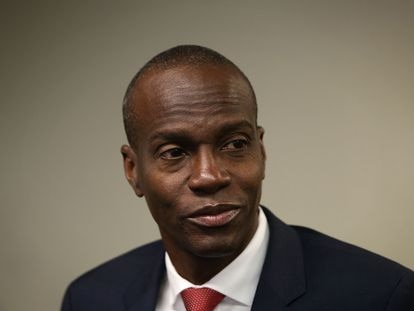 Jovenel Moïse in Washington on April 20, 2016, when he was still a presidential candidate.